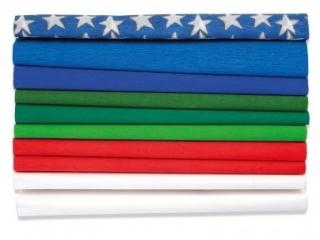 Bibu³a marszczona 25 x200cm - ¦WIÊTA - MIX 8 kolorów, 10 rol