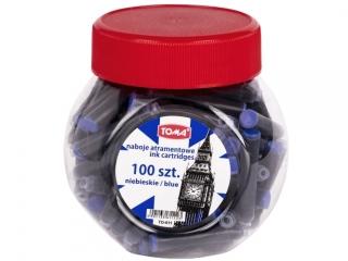 Naboje atramentowe TOMA niebieskie, s³oik 100 szt.