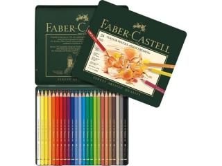 ca67764881527 Kredki FABER-CASTELL Polychromos 24 kolorów, opakowanie meta