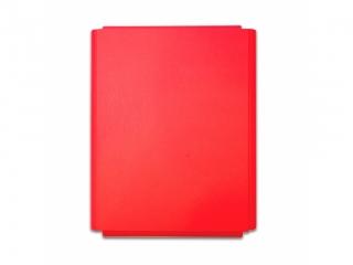 Teczka ³amana PENMATE A4 lakierek na rzep - czerwona