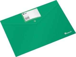 Teczka kopertowa PP Titanum A4 pozioma z etykiet± zielona (TKI4GY)