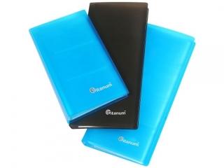 Wizytownik TITANUM PP  96 wizytówek 10, 5x19cm, niebieski