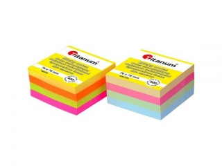 Notes samoprzylepny TITANUM mix fluo 400k 76x76 mm