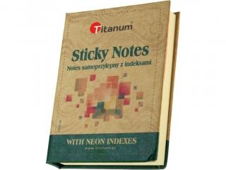 Notes samoprzylepny z indeksami fluo TITANUM 810x105 mm
