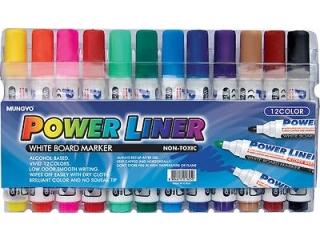 Markery sucho¶cieralne MUNGYO Power liner 12 kolorów