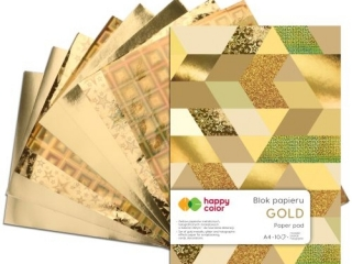 Blok GOLD, A4, 150-230g, 10 ark, Happy Color