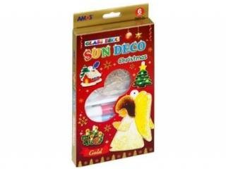 Farby witra¿owe AMOS SD10P06-CH 6 kolorów+ witra¿e Christmas