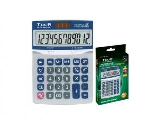 Kalkulator biurowy TooR TR-2213A -12 pozycji, metalow± pokry