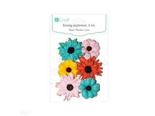Kwiaty papierowe DPCRAFT Tropical dreams  6szt.