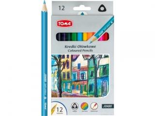 Kredki o³ówkowe TOMA trójk±tne JUMBO 12 kolorów