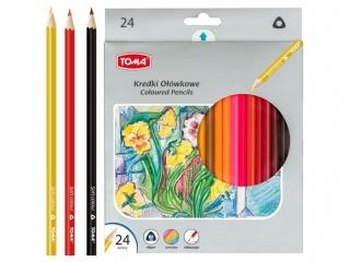 Kredki o³ówkowe TOMA trójk±tne 24 kolory