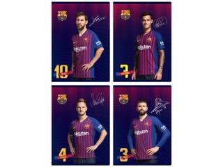 Zeszyt A5 16k. ASTRA FC Barcelona Barca Fan 7, trzy linie ko