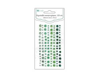 Kryszta³ki samoprzylepne DPCRAFT 120szt. - Emerald