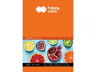 Blok do akrylu Art., A5, 10 ark, 360g, Happy Color