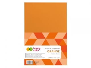 Arkusze piankowe A4, 5 ark, pomarañczowy, Happy Color