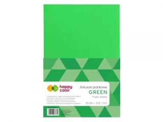 Arkusze piankowe A4, 5 ark, zielony, Happy Color