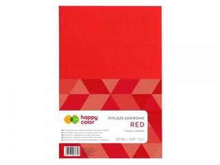 Arkusze piankowe A4, 5 ark, czerwony, Happy Color