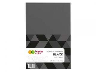 Arkusze piankowe A4, 5 ark, czarny, Happy Color