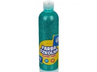 Farba szkolna Astra 250 ml - brokatowa zielona