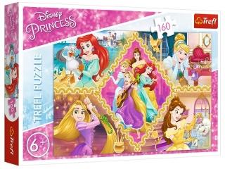 Puzzle  160 TREFL Disney Ksiê¿niczki - Przygody ksiê¿niczek