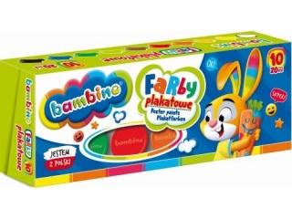 Farby plakatowe BAMBINO 10 kolorów, 20 ml