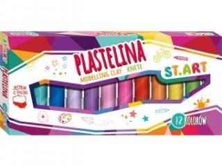 Plastelina ST.ART 12 kolorów [opakowanie=10szt]