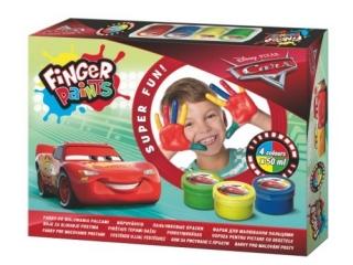 Farby do malowania palcami Cars 4 kolory x 50 ml [opakowanie