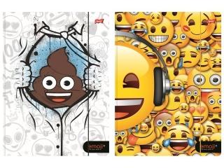 Teczka z gumk± A4 ST.MAJEWSKI Emoji mix I 300g/m2