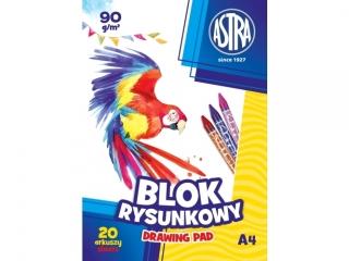 Blok rysunkowy A4 20k. ASTRA 90g