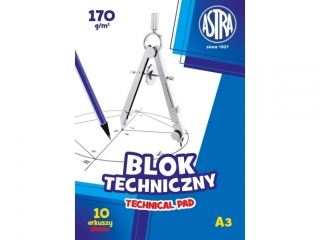 Blok techniczny A3 10k. ASTRA 170g