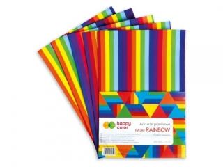Arkusze piankowe RAINBOW Paski, A4, 5 ark., Happy Color