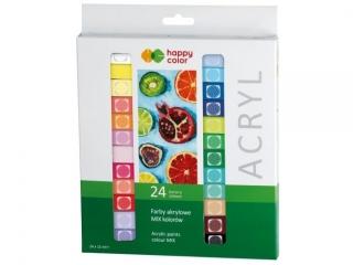 Farba akrylowa zestaw 24 kolorów x 12 ml, Happy Color