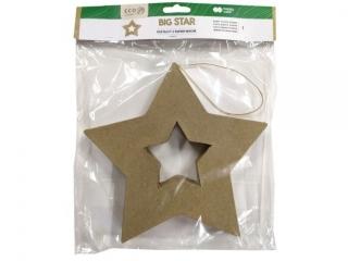 Kszta³t z papier mache HAPPY COLOR Big star, 19x2.5cm