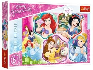 Puzzle  100 TREFL Disney Ksiê¿niczki - Magia ksiê¿niczek