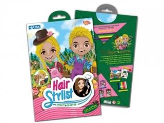 Zestaw kreatywny plastelina NARA Hair Stylist 100g 8kol. - R