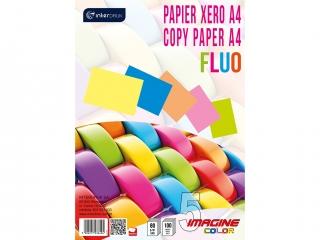 Papier xero A4 100 5 kolorów FLUOx 20 kartek