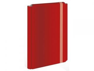 Teczka z gumk± twarda oprawa A4+ INTERDRUK czerwona