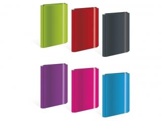 Teczka z gumk± twarda oprawa A4+ INTERDRUK  mix 6 kolorów