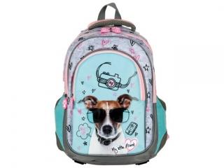 """Plecak 38cm (15"""") ST.MAJEWSKI szkolny BP58 My Little Friend - Dog"""