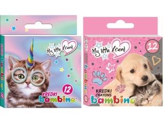 Kredki BAMBINO My Little Firned 12 kolorów