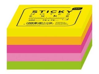 Blok karteczek samoprzylepnych INTERDRUK 300k. 75x75mm