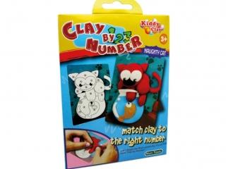 Zestaw kreatywny plastelina NARA Clay by number - Kot 70g 5k