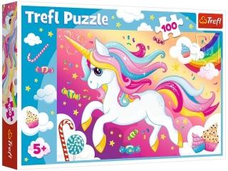 Puzzle  100 TREFL Piêkny jednoro¿ec