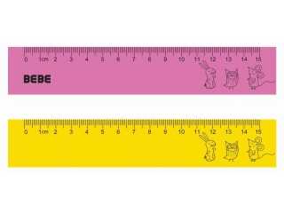Linijka INTERDUK BB Kids pastel Flexi 15cm
