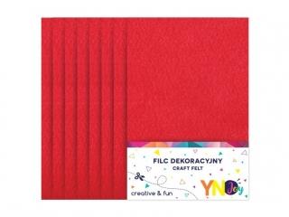 Filc dekoracyjny YNJ czerwony 8szt.