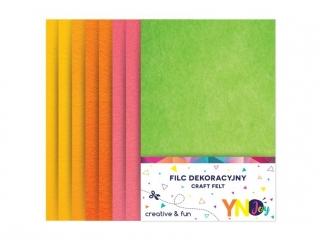 Filc dekoracyjny YNJ  mix Fluo 8szt.