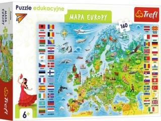 Puzzle  160 TREFL Edukacyjne - Mapa Europy