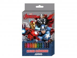 Kredki o³ówkowe BENIAMIN jumbo 12kol. Avengers