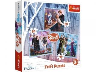 """Puzzle   """"3w1 TREFL Kraina Lodu - Magiczna opowie¶æ"""