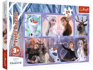 Puzzle   24 Maxi TREFL Kraina Lodu - ¦wiat pe³en magii